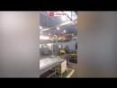 Первые минуты пожара на Кировском заводе в Питере