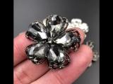 metal Стразы Пуговицы для Костюмы декоративные кнопки со стразами для одежды Кристалл Для женщин Вышивание аппликации DIY черный