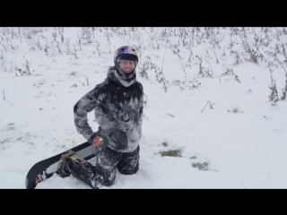 Urban snowboarding in Essex during snow storm with Billy Morgan and Paddy Graham