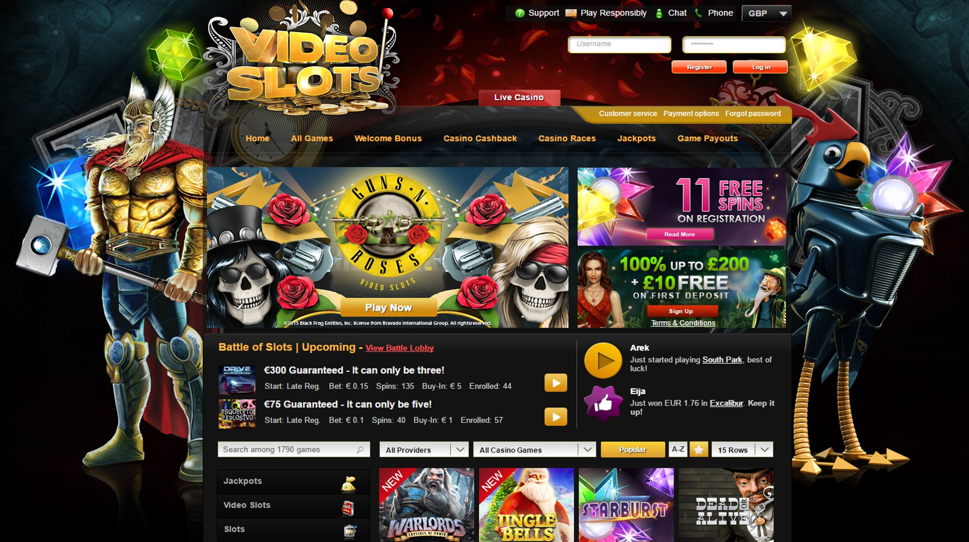 free casino slots no registration