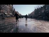 По улицам Амстердама на коньках