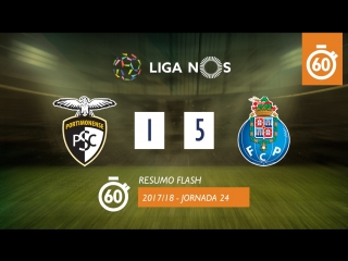 Лига НОШ 2017/18 (Тур 24): Портимоненсе  Порту 1:5 (лучшие моменты)