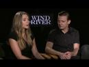 """Эксклюзивное интервью Элизабет Олсен и Джереми Реннера в рамкам промо фильма """"Ветреная река"""" (2017)"""