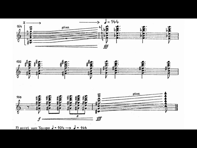 Pēteris Vasks - The Sonata of Loneliness for Guitar (Score video)
