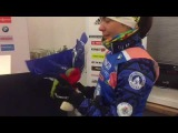 Надежда Скардино перед пресс-конференцией после индивидуальной гонки в Эстерсу...