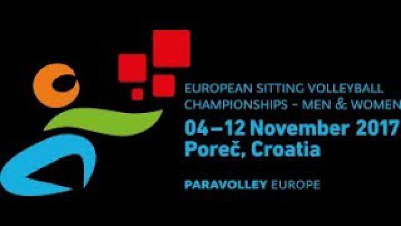 European sitting volleyball championship Men Porec 2017, Russia vs Italy, 7.11.2017.
