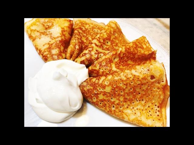 БЛИНЫ. Блинчики Карамельные. Вкусный Завтрак. Caramel Pancakes.
