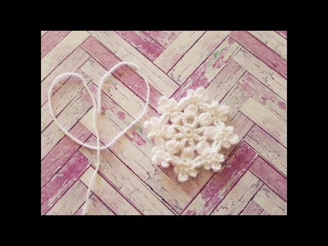 Мастер Класс вязаной СНЕЖИНКИ. knitted snowflake. punto de copo de nieve