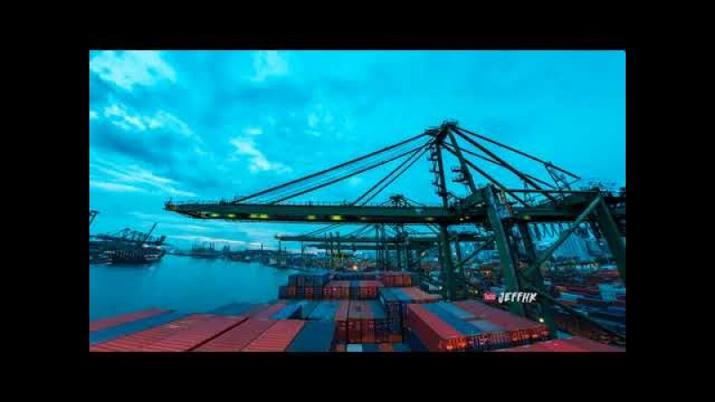 30 Days Timelapse at Sea ¦ 4K ¦ Through Thunderstorms, Torrential Rain Busy Traffic