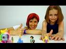 Игры для девочек МАГАЗИН ТЕЛЕФОНОВ. Пони, Золушка, Рапунцель и Пластилин Плей До. Видео для детей.