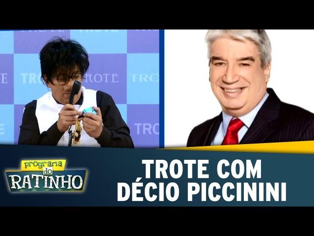 Programa do Ratinho (29/09/16) - Trote com Décio Piccinini