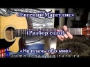 Евгений Маргулис Не плачь обо мне РАЗБОР СОЛО НА ГИТАРЕ