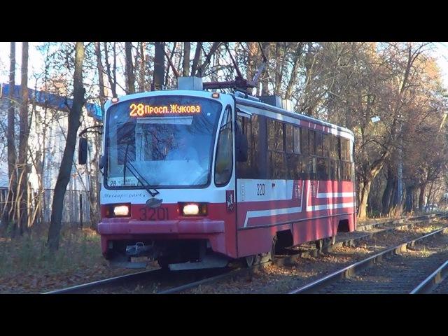 Трамвай 71-405.08 с приветливым водителем:-)