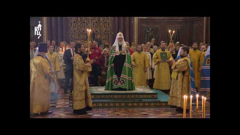 В день своего рождения Патриарх Кирилл совершил Божественную литургию в Храме Х...