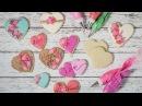 Rustic Floral Valentines Day Cookies