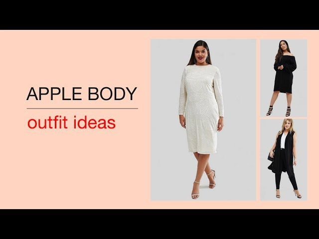 Outfit ideas for the apple body type (Plus Size). Find inspiration for your capsule wardrobe.