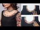 Kurta / Kurti Neckline With Salwar Leftover Fabric (DIY)