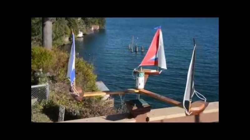 Three Boat Whirligig Double Sail