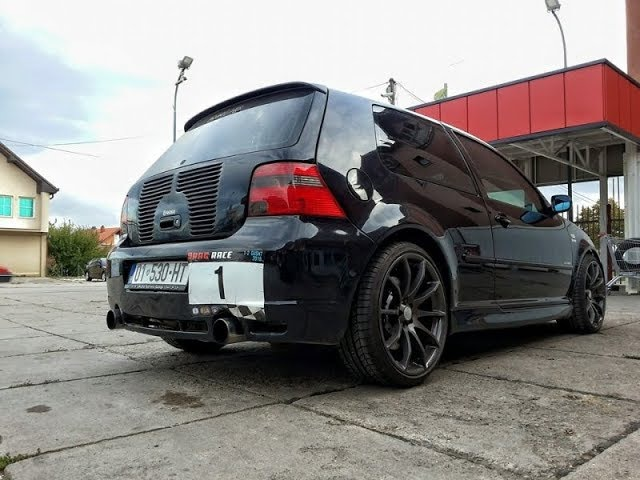 Golf 4 V10 BI TURBO 1300 HP Acceleration 0-315 Km/h