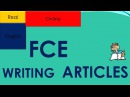 FCE WRITING ARTICLES