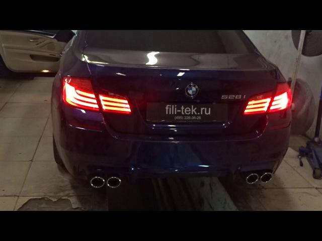 Разводка выхлопной системы BMW 528 V6 (3 литра, атмосферный мотор)