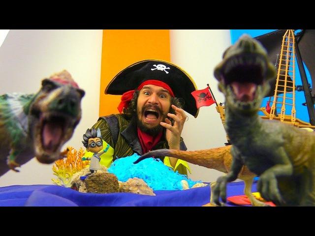 Ромео оживил Динозавров! Герои в Масках на острове Юрского Периода! Видео игры