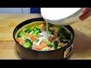 Как Приготовить КИШ с РЫБОЙ! Простой Рецепт Вкусного Пирога! Open cake with red fish and broccoli