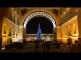 Trips to St Petersburg Nevsky - central avenue of the City evening travel