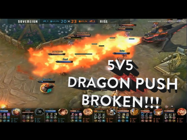 5V5! VainGlory 3.0 Gameplay - ALL DRAGONS PUSH BROKEN 25 MINUTES GAME?!? - NEW ITEMS CELESTE OP?!?