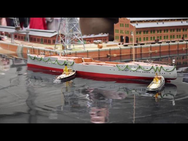 Modellbahn IG Kaiserliche Marine mit Echtwasser