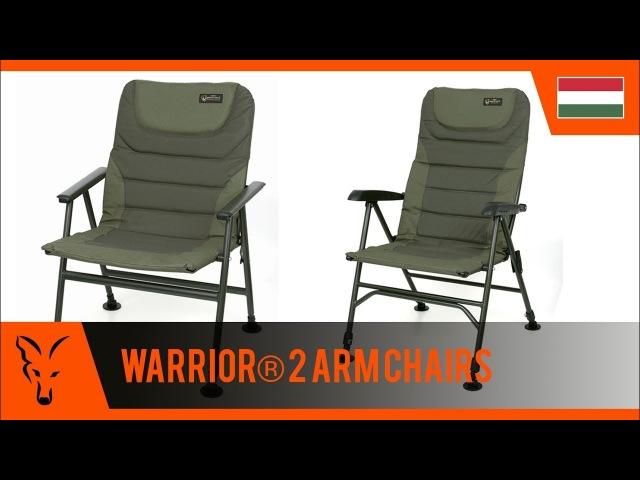 ***FOX CARP FISHING TV HUNGRY*** Az új Warrior 2 fotel