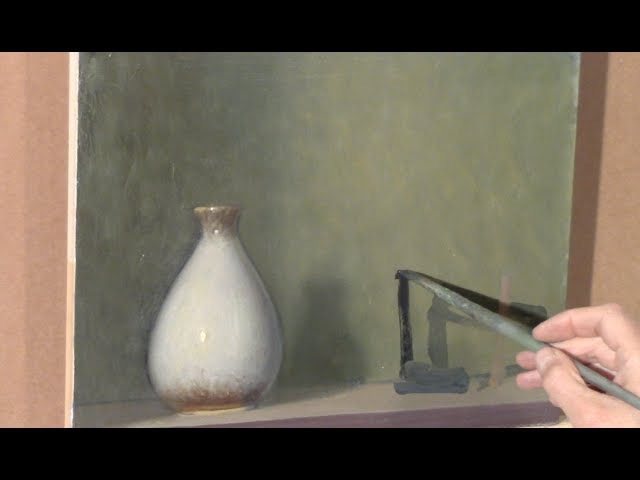A not so still life with white vase