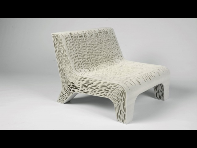 Lilian van Daals 3D-printed Biomimicry chair shows off a new way to create soft seating