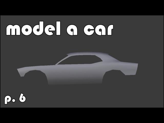 Model a 3d Car   part 6   maintaining good topology (Blender tutorial)