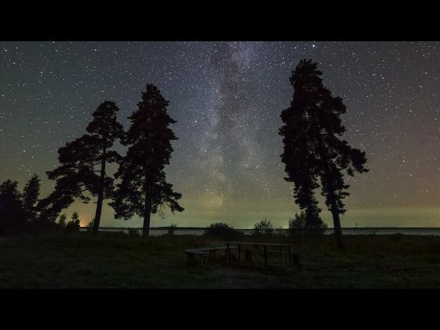 TimeLapse Stars 4K Таймлапс Звезд Ночное звездное небо