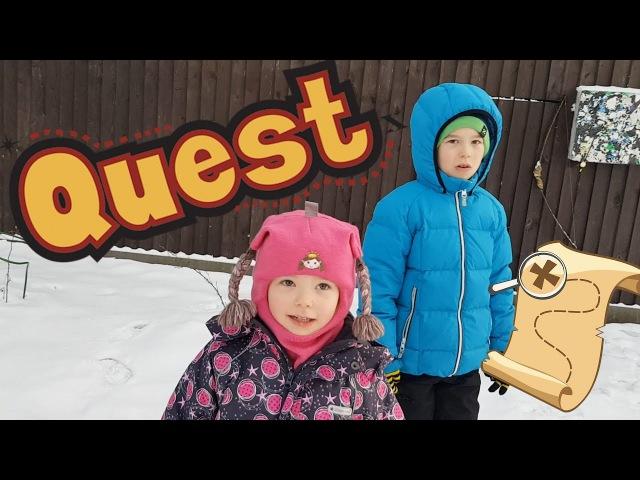 Забавный- Зимний Квест во дворе..Смотрим! / Funny Winter Quest Game MaryArty!