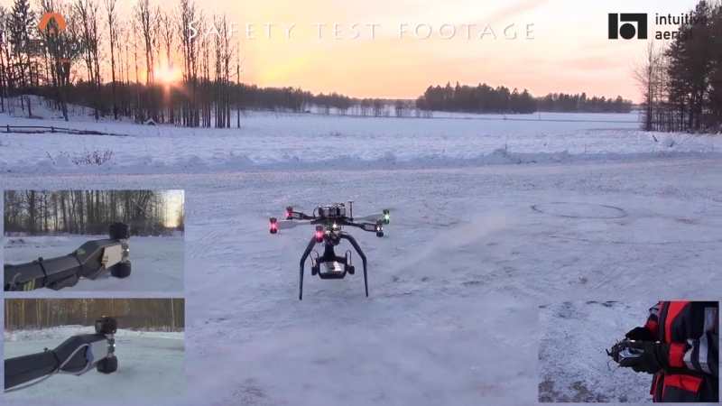 AERIGON by Intuitive Aerial - Two Motor (Opposite Sides) Failure Safety Test