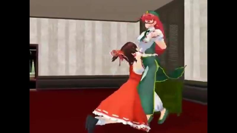 Reimu and Remilia.