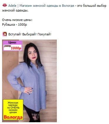 8e07006c559 Кейс. Продвижение магазина женской одежды