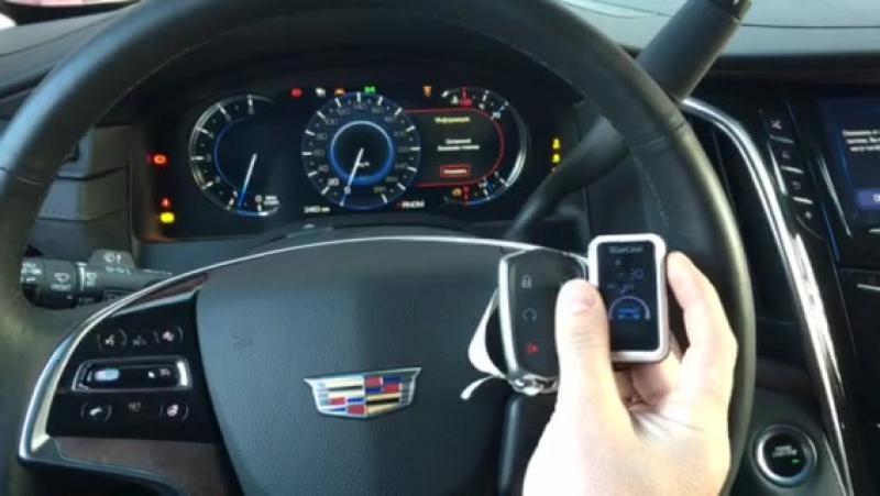 Cadillac Escalade 2017г. установка охранной системы в Мастер Вольт г. Ижевск