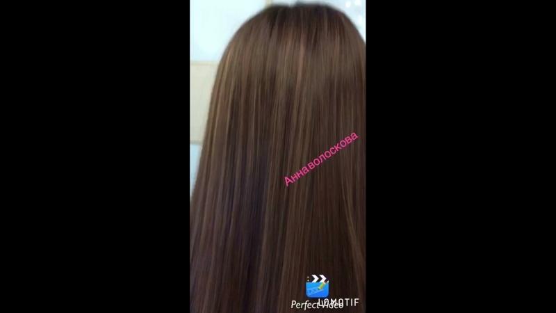 Шатуш на длинные волосы,техника начёс