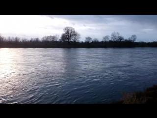 Красивые пейзажи в Германии на берегу реки Эльбы в Дрездене - Саксония Германия Дрезден - Deutschland Sachsen Dresden