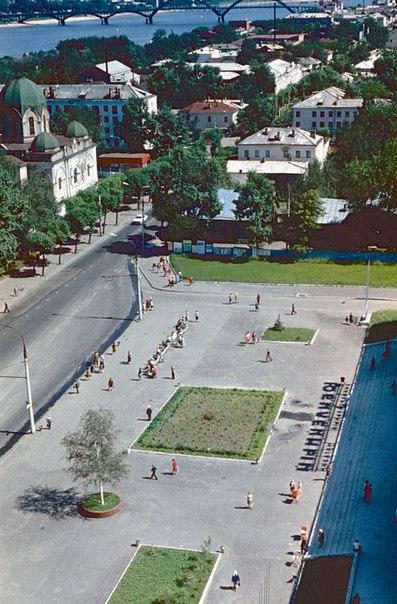 Ретро Рыбинск Площадь перед универмагом