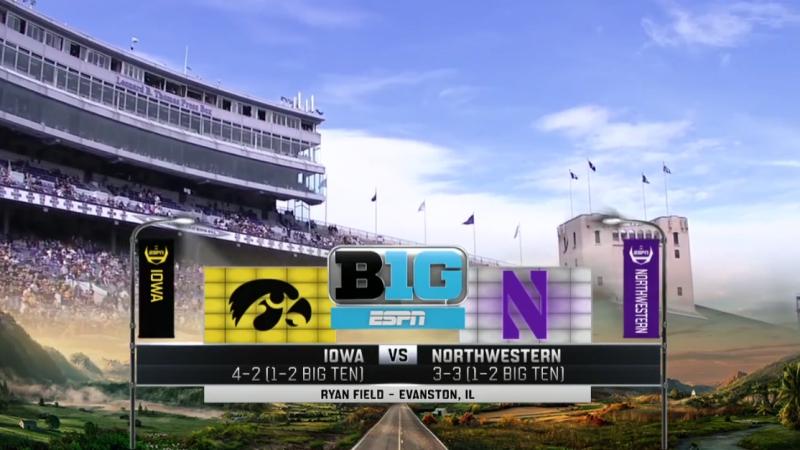 NCAAF 2017 Week 08 Iowa Hawkeyes Northwestern Wildcats 21 10 2017 EN