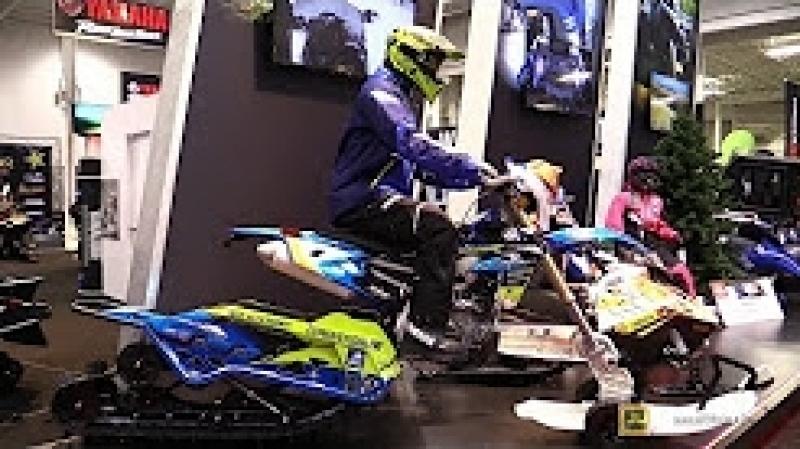 2018 Yamaha WR 450 F with Camso Snow Trail Kit - Walkaround - 2017 Toronto Snowmobile ATV Show