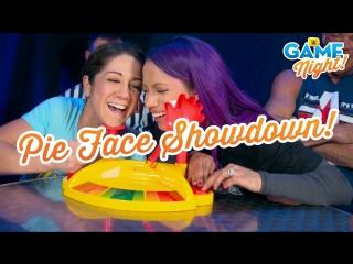 [WWE QTV]☆[WWE Game Night]WWE Superstars play Pie Face Showdown]