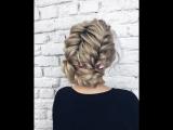 Видео урок пучка из кос