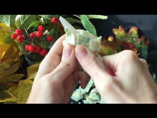 АСМР / ASMR Режу залипушку из оливкового и хвойного мыла