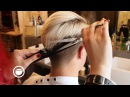 Bleached Hair with a Modern Quiff at the Barbershop
