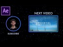 How to create a Stylish YouTube End Screen Template in Adobe After Effects CC FREE Project